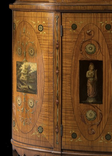 Showcase in satinwood - Furniture Style Napoléon III