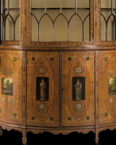 19th century - Showcase in satinwood