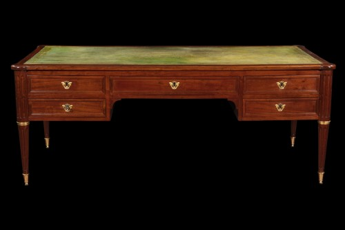 Desk in acajou signed B. Monitor - Furniture Style Louis XVI