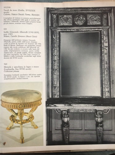 18th century - Console with mirror