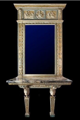 Louis XVI - Console with mirror