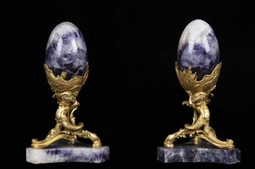 Blue Jhon and gilded bronze  -