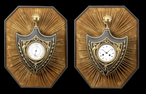 Cartel and barometer  - Clocks Style Restauration - Charles X