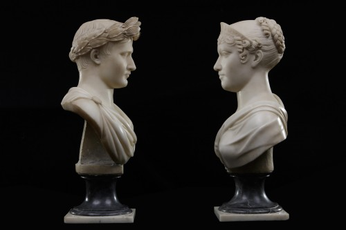Sculpture  - Napoleon and Maria Luisa of Hapsburg