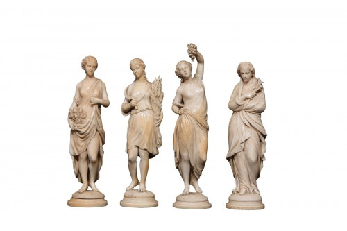 """The four seasons "". Ivory sculptures"