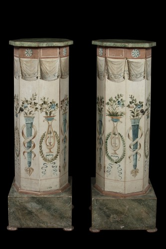 18th century - Pair of octagonal column