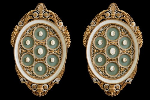 Ovales eh bois sculpté - Decorative Objects Style