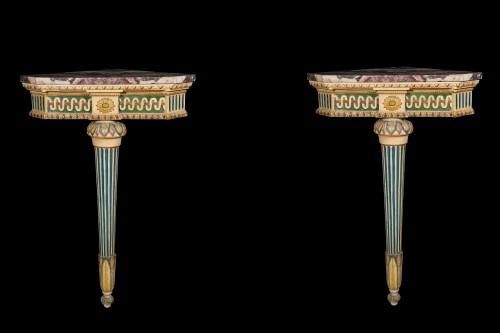 Four corner consoles  - Furniture Style Louis XVI