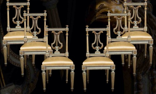 Set of six chairs - Seating Style Louis XVI