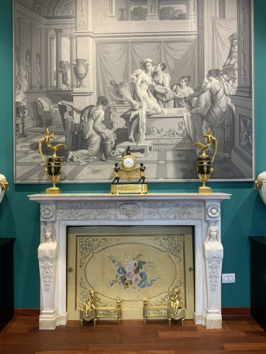 Neoclassical Italia Fireplace - Architectural & Garden Style