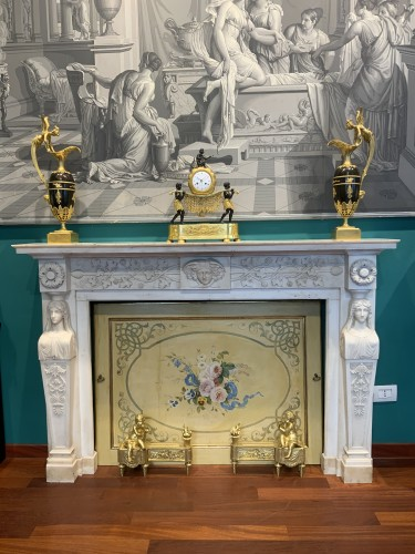 Architectural & Garden  - Neoclassical Italia Fireplace