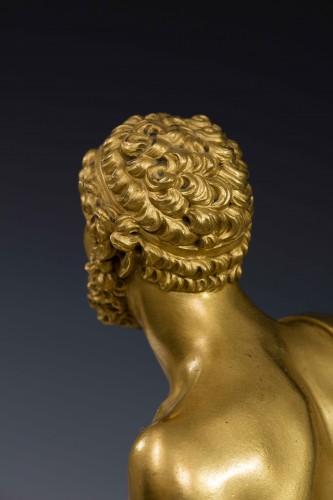 Hippolite and Theseus clock, dial signed Barrand á Paris -