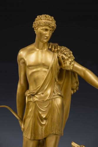Hippolite and Theseus clock, dial signed Barrand á Paris - Directoire