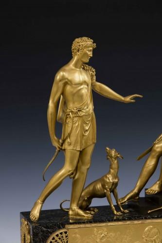 Directoire - Hippolite and Theseus clock, dial signed Barrand á Paris