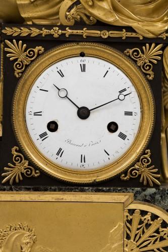 Antiquités - Hippolite and Theseus clock, dial signed Barrand á Paris