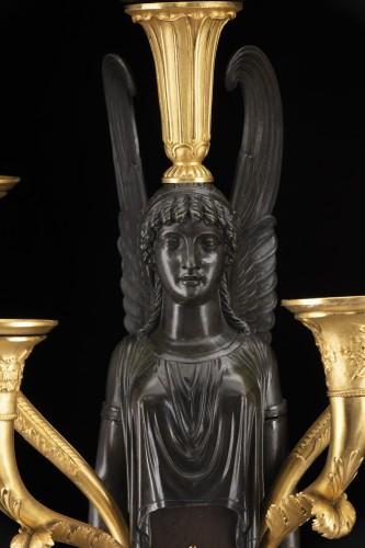 Empire five-light candelabra -