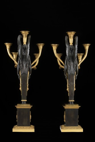 Antiquités - Empire five-light candelabra