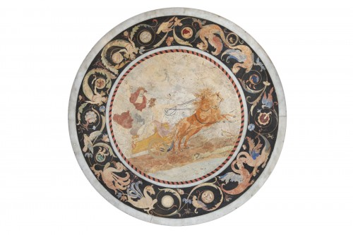 Scagliola and marble top