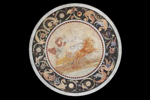 Decorative Objects  - Scagliola and marble top