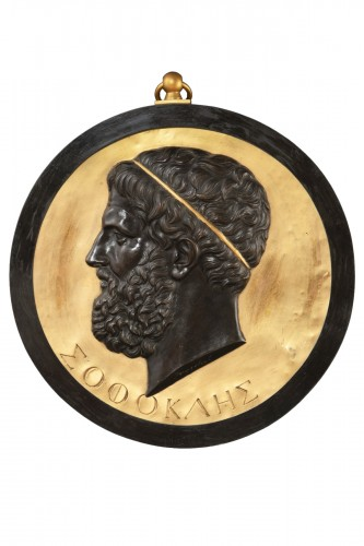 Medallion depicting SOFOCLE