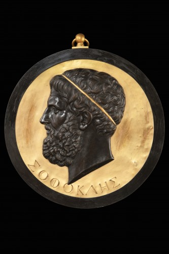 Decorative Objects  - Medallion depicting SOFOCLE
