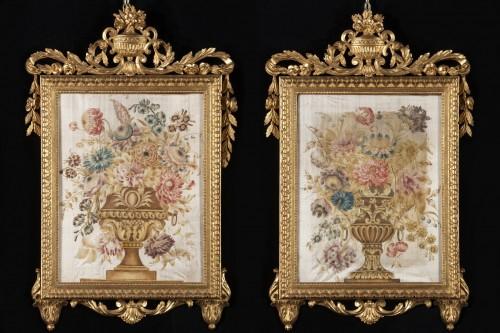 18th century - Pair of paintings on silk