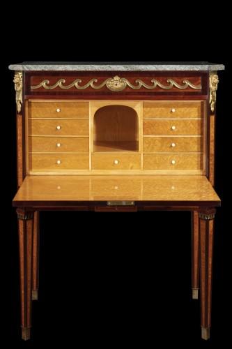 Furniture  - Secretaire, model of. Georg HAUPT - Sweden 19th century