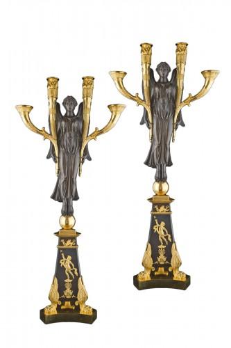 Pair of large candelabra