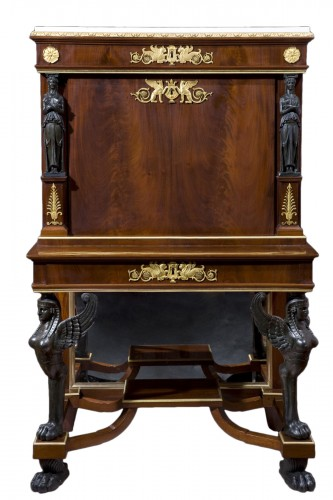 Mahogany Secretaire of Empire period,  attributed to J. Desmalter