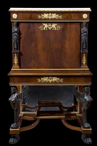 Mahogany Secretaire of Empire period,  attributed to J. Desmalter - Furniture Style Empire