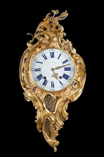 Louis XV Cartel signed J.B. BAILLON - Horology Style Louis XV