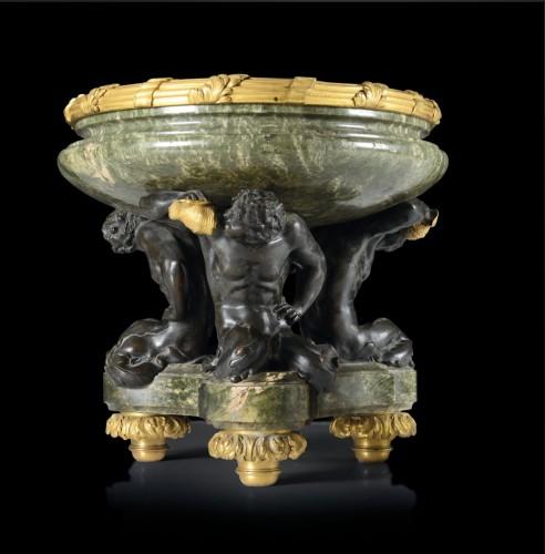 "Decorative Objects  - Bronze centerpiece ""Three Newts"""