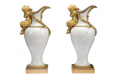 Pair ewers attr. to' Pierre Gouthiére