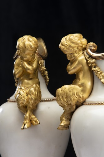 Pair ewers attr. to' Pierre Gouthiére -
