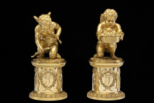 Pair of bronze Putti  - Decorative Objects Style Directoire