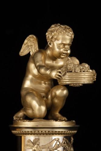 Directoire - Pair of bronze Putti