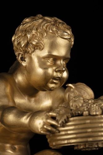 Antiquités - Pair of bronze Putti