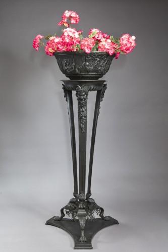 19th century - Gardener in patinated bronze