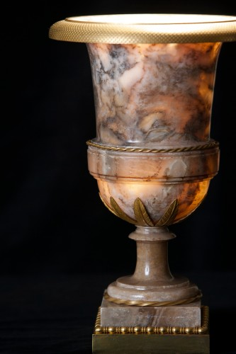 Decorative Objects  - Vases in alabaster and bronze