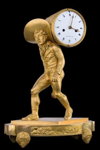 Oyster seller - Empire clock in gilt bronze - Horology Style Empire