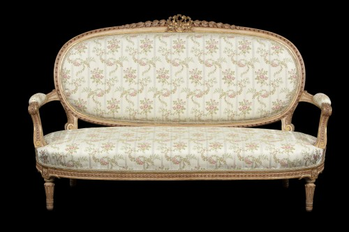 1 sofa and 2 marquise - Seating Style Louis XVI