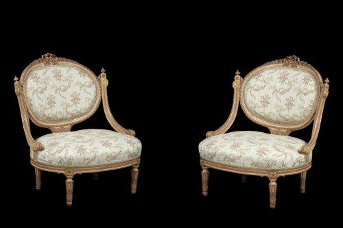 18th century - 1 sofa and 2 marquise