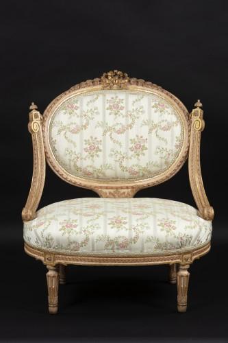 1 sofa and 2 marquise - Louis XVI