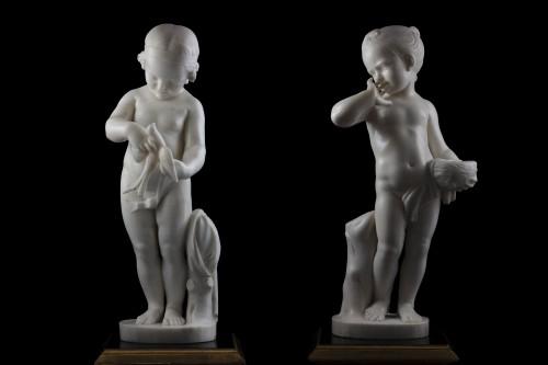 - Pair of sculptures
