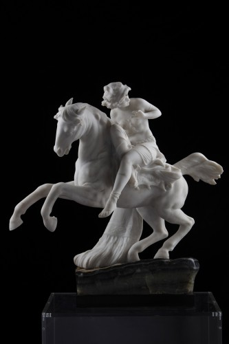 - Sculpture Odalisque on horseback
