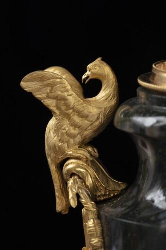 18th century - Pair vases in Urals jasper stone and bronzes