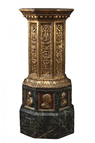 Column in painted terracotta