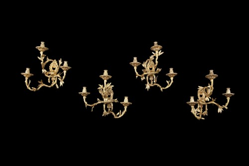 4 appliques in gilded bronze - Lighting Style