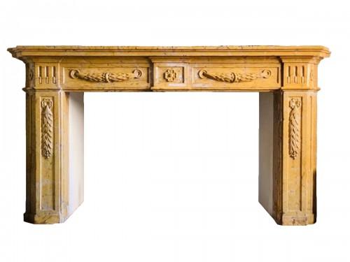 Fireplace in yellow Verona marble