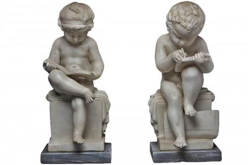 Sculptures signed R.J. WYATT (1795-1850)